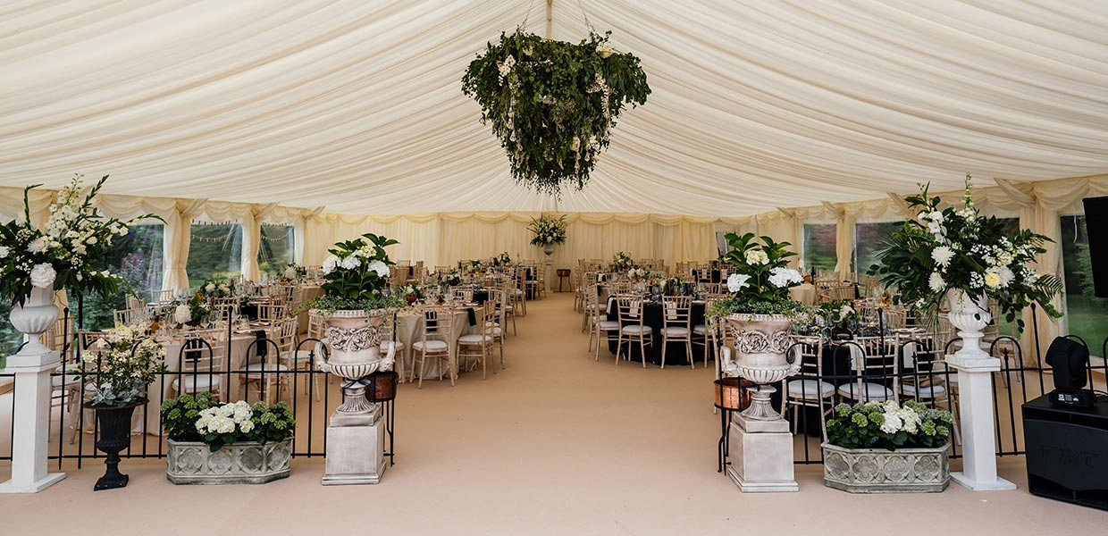 Countryside wedding marquee